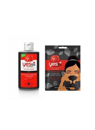Yes to Yes To Akneli Cilt Kömür Özlü Yüz Temizleme Jeli 147 Ml+Tek Kullanımlık Kömür Kağıt Maske 20 Ml Renkli